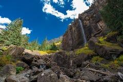 Brud- skyla nedgångTelluride Colorado USA Arkivbilder