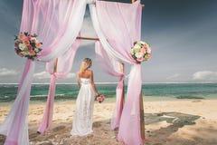 Brud som att gifta sig precis Royaltyfria Foton