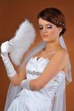 Brud som poserar i studioskytte Royaltyfri Bild