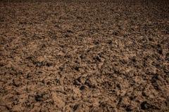 Brud tekstura Kraj drogi gruntowej tekstura Unworked ziemia, pole fotografia stock