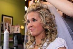 brud- utforma för hår Fotografering för Bildbyråer