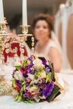 Brudblomma, blomma av bruden, blomma för att gifta sig, bröllopblomma royaltyfri fotografi