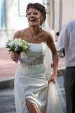 brudbröllop för 2 bukett Royaltyfria Foton
