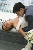 brudbrudgum Arkivbild