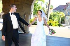 brudbrudgumbröllop Royaltyfria Bilder
