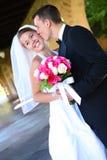 brudbrudgumbröllop Royaltyfria Foton
