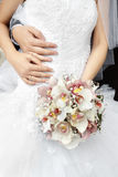 brudbrudgummen hands s Arkivfoto