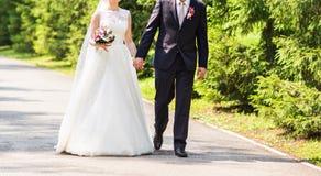 bruddagbrudgum deras bröllop royaltyfri fotografi