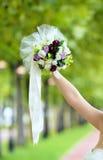 Bruden i naturligt parkerar fotografering för bildbyråer