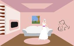 Bruden i rummet arkivfoto
