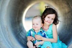 Bruder And Sister Love Stockbild