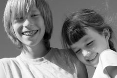 Bruder und Schwester Lizenzfreie Stockfotografie