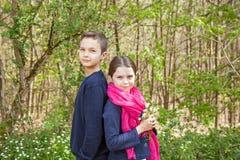 Bruder und Schwester Lizenzfreies Stockbild