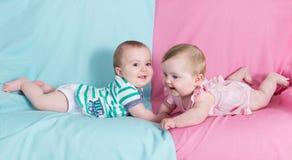 Bruder und Schwester Stockfotos