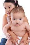 Bruder-und Schwester-Liebe Stockbild