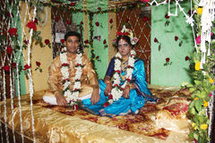 Brudgum & brud Arkivbild