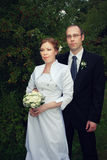 Brudgum och brud Royaltyfri Fotografi