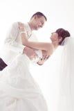 Brudgum och brud Arkivbild