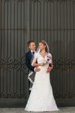 Brudgum och brud Arkivfoton