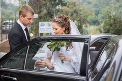Brudgum och brud Royaltyfri Bild