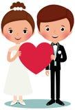 Brudgum och brud Royaltyfri Foto