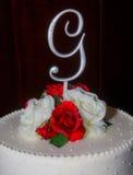 Brudgumbröllopstårta Royaltyfria Bilder