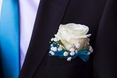 Brudgummen på en bröllopferie Royaltyfri Bild