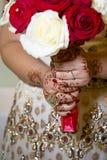 Brudhänder Arkivbild