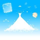 brudklänningbröllop Arkivfoton