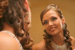 brudklänningbröllop Fotografering för Bildbyråer