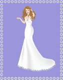Brudklänningsjöjungfru Royaltyfri Bild