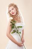 brudklänningwhite Royaltyfri Fotografi