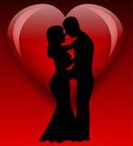 Brudkontur med förälskelse Royaltyfria Foton