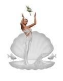 brudmermaid royaltyfri illustrationer