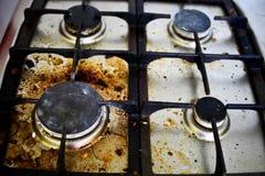 Brudna brudna benzynowa kuchenka Zdjęcie Stock