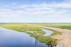 Brudna droga Lagoa robi Peixe jezioru obrazy stock
