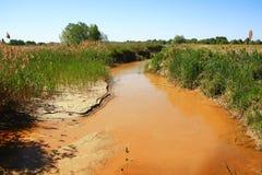 Brudna kanał woda Zdjęcia Stock