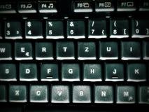 Brudna komputerowa klawiatura i zmrok obraz royalty free