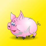 Brudna mała świnia Obrazy Royalty Free