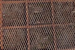 Brudna metal ochrony kratownicy zbliżenia tekstura obrazy stock