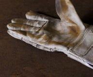 Brudna pracująca rękawiczka obraz stock