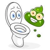 Brudna Toaletowa kreskówki ilustracja Gotowa Dla Twój projekta, kartka z pozdrowieniami ilustracji