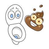 Brudna Toaletowa kreskówki ilustracja Gotowa Dla Twój projekta, kartka z pozdrowieniami ilustracja wektor