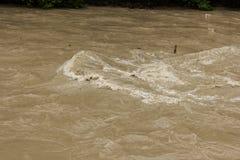 Brudna woda po grzmot burzy Zdjęcia Stock