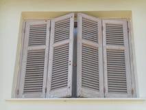 Brudne biel mieszanki na okno zdjęcia stock