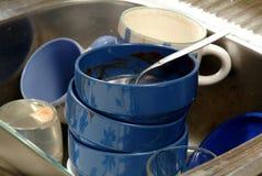 brudne naczynia Zdjęcie Stock