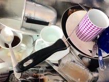 brudne naczynia Zdjęcia Royalty Free
