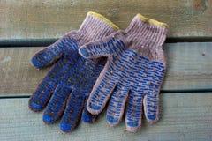 Brudne sukienne rękawiczki Obraz Stock