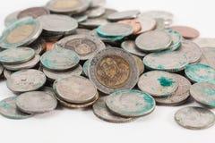 Brudne tajlandzkie monety Fotografia Stock