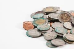 Brudne tajlandzkie monety Obrazy Stock